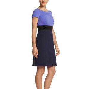 White House Black Market Xs 2 navy Blue dress